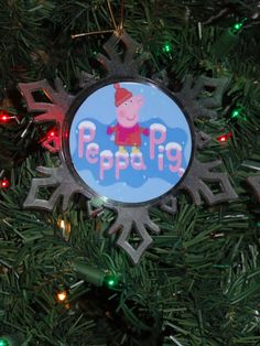 peppa pig personalized snowflake ornament free personalization name and date on back 10