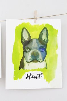 Check out this item in my Etsy shop https://www.etsy.com/listing/476452518/custom-dog-watercolor-potrait-8-x-10