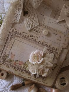 Album using Prima Tea Thyme Collection...layers are fun wish mine looked this cute