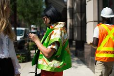 Street style from the start of the spring 2017 fashion season at New York…