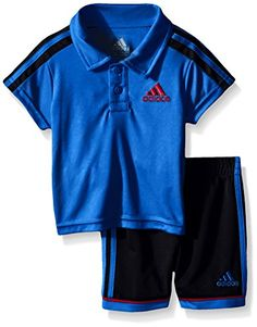 adidas Little Boys Toddler Pitch Short Set Shock Blue 3T >>> Check out the image by visiting the link.Note:It is affiliate link to Amazon.
