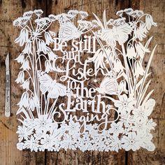 Samantha's Papercuts: Be Still and Listen Coloured Papercut