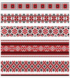 Russian Embroidery, Folk Embroidery, Cross Stitch Embroidery, Embroidery Patterns, Geometric Embroidery, Cross Stitch Borders, Cross Stitch Charts, Cross Stitch Patterns, Russian Folk Art
