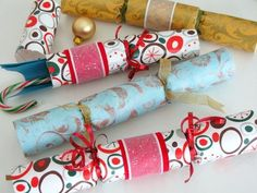 I love Christmas Crackers, but the prizes in them are usually pretty crummy. I'd much rather make my own.