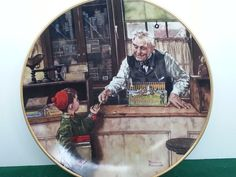 Knowles Bradford Exchnge Back to School Coming of Age Series Norman Rockwell COA