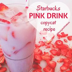 #PinkDrink Starbucks Pink Drink copycat recipe by Beauty and the Beets