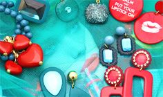 fall winter 2014, fashion jewelry, bijoux, earrings, made in Italy, red, heart, message, orecchini, matildesign, accessories, italy, italian fashion