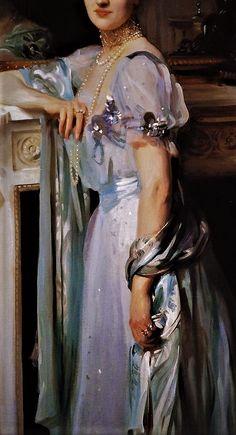 Portrait of Mrs Louis Raphael  by John Singer Sargent