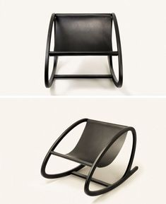 Design studio Objects & Ideas have crafted a modern wood and leather rocking chair named 'Wye'. #RockingChair #ModernFurniture