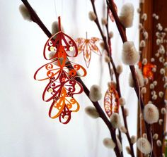 Quilled Autumn Leaves by all things paper, via Flickr