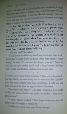 Lock and Key -Sarah Dessen <--- I love this book so much. I read it in like 6th grade and it meant so much to me