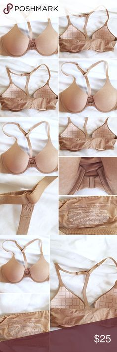 Victoria Secret Tan front snap bra Victoria Secret Tan front snap bra 32C Tan  Never worn  Razor back Runs small this is not full coverage bra  This is perfect with a razor back shirt such as the white A&F one in my closet. Victoria's Secret Other