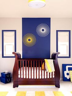 Bold pops of color brighten baby's room -- no hue is off limits!    See more nursery trends in our gallery: http://www.people.com/people/celebritybabies/gallery/0,,20620053,00.html#