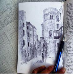 Art by on insta Ballpoint Pen, Ink Art, Drawings, Artist, Artwork, Inspiration, Buildings, Architecture, Sculpture