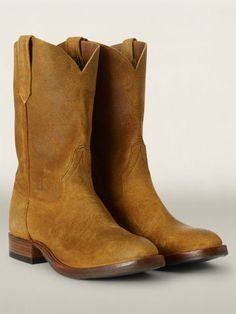 Ralph Lauren offers luxury and designer men's and women's clothing, kids' clothing, and baby clothes. Vintage Shoes, Vintage Leather, Vintage Men, Leather Men, Leather Shoes, Western Boots, Cowboy Boots, Men's Shoes, Shoe Boots