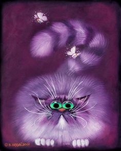 Moth Hunter Painting by Baron Dixon - Moth Hunter Fine Art Prints and Posters for Sale I Love Cats, Crazy Cats, Cool Cats, Illustrations, Illustration Art, Gatos Cat, Frida Art, Chesire Cat, Image Chat