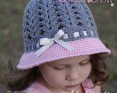 Girl Hat Crochet Pattern for My ANGEL BABY Cloche digital