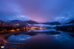 The glowing lights of Nelson in BC are stunning... but the hot chocolate's even better.  www.chrisburkard.