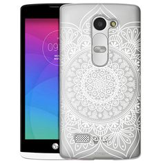 LG Leon White Floral Ink Mandala Clear Case