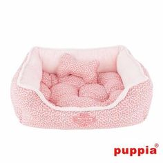 Hawthorn Dog Bed by Puppia - Light Pink