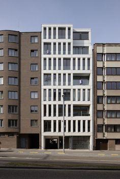 Diestsevest 43 Leuven • groepswoningbouw • Projecten • POLO ARCHITECTS - poponcini & lootens ir. architecten