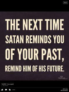 Get thee Behind Me, Satan!