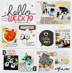 Project Life | Week 19 & 20 » Findingnana - love her use of #midnightedition to create a lot of white