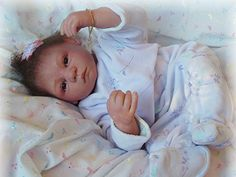 Reborn Baby girl Laura...Petunia kit by V.R...4lbs & 5oz's..18 inches...rooted hair..Created by me...2007...
