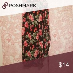 Floral print wrap skirt Floral print wrap skirt Forever 21 Skirts Maxi