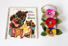 So dang cute! Felt Headband, Flower Headbands, Cute Headbands, Pansy Flower, Felt Flowers, Pansies, Fabric Crafts, Whimsical, Hair Accessories