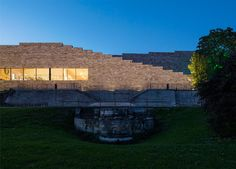 Museum dedicated to the fairytales of the Brothers Grimm has a stepped roof overlooking Kassel.
