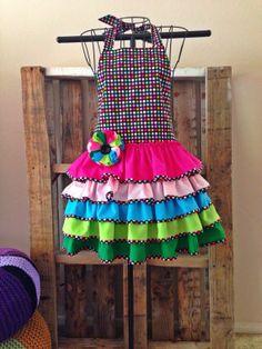 Full Apron flamenco inspired by FabulouslySpun on Etsy, $20.00