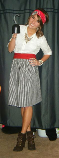 dress like a pirate day for free donuts? Why not?! costume ideas - black skirt halloween costume ideas