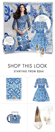 Blue Dolce and Gabbana by Sasoza by sasooza on Polyvore featuring moda, Dolce&Gabbana, women's clothing, women's fashion, women, female, woman, misses, juniors and dolceandgabbana