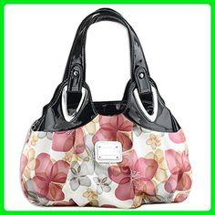 KAXIDY Elegant Flower Handbag Shoulder Bags Tote Messenger Bag (Rose Red) - Satchels (*Amazon Partner-Link)