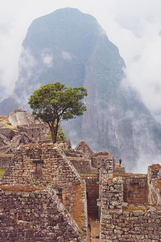machu pichu + mountain, peru   travel destinations in south america + ruins #wanderlust ❅