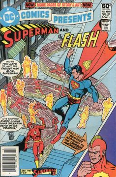 DC Comics Presents #38 featuring Superman and The Flash and the Crimson Avenger.  Cover art by George Perez.