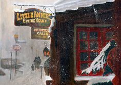 Little Annies Eating House Aspen, Colorado Painting at ArtistRising.com