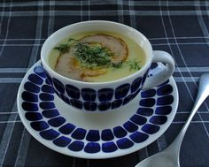 Potato soup with browned butter