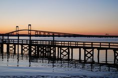 The Pell Bridge Newport RI.  I heart this town!