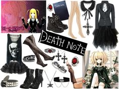"""This or That: Misa Amane Cosplay"" by dizziedizazter ❤ liked on Polyvore"