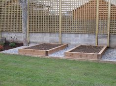 modest and simple arrangement of raised beds for growing vegetables. Planters made from pressure treated Pine sleepers.A modest and simple arrangement of raised beds for growing vegetables. Planters made from pressure treated Pine sleepers. Plants For Raised Beds, Raised Garden Beds, Vegetable Planters, Garden Planters, Outdoor Fencing, Building Raised Beds, Raised Planter, Garden Trellis, Container Flowers