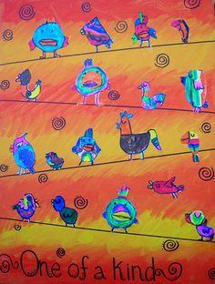 another birds on a wire- So cute!-MrsAJonesClass1's art on Artsonia