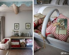 Love the red and grey combination