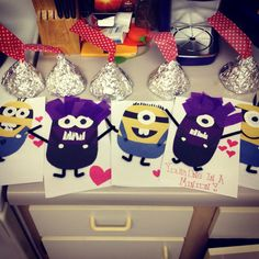 Minion Valentines cards be mine baby mumu