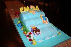 Image result for pool waterslide birthday cakes
