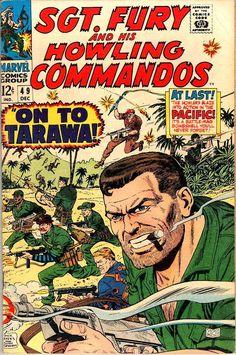 Comic Book Critic - Google+ - Sgt. Fury #49 (Dec '67) cover by Dick Ayers & John Severin.