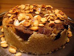 libyan food: Upside Down Rice Dish: Maqluba مقلوبة