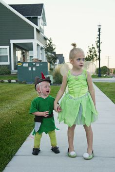 Peter Pan - Brother Sister Sibling Halloween Costume!