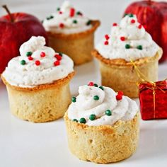 Gingerbread Cookie Cups mit Bratapfel-Mousse